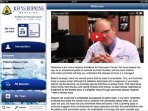 The Johns Hopkins iCarebook for Pancreatic Cancer