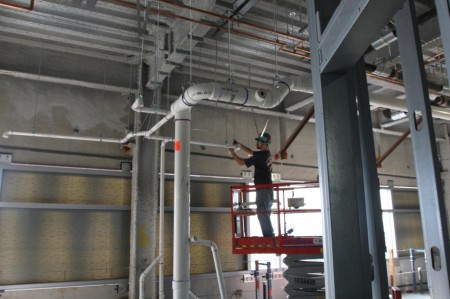 Pluming Installation on Level 12 of the Adult Tower
