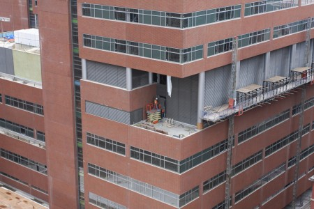 Installation of Mechanical Louvers on Level 6