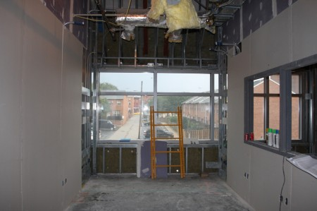 Drywall Installation on Level 2 of the Children's Tower