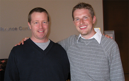 Jim Doran and WordPress founder Matt Mullenweg