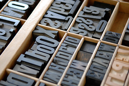 letter press letters