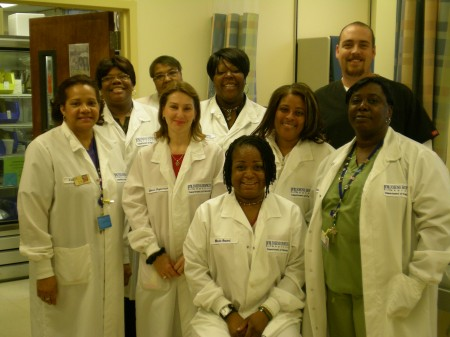 Phlebotomy staff of the Green Spring Station Lab
