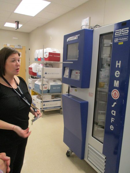 Lorraine discussed the blood dispensing machine which is also located in the Operating Rooms.